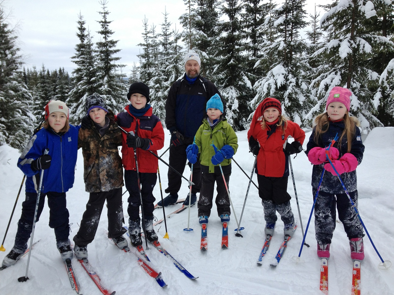 Aikidogruppa på skitur i Brøttumsmarka januar 2013